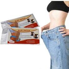 Для выведения токсинов, 40 шт = 2 упак./лот для похудения, на пупок Стикеры тонкий обертывание эффект клейкий пластырь Вес потери сжигание жира товары для Для женщин