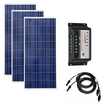 Solar Panel Kit 150w 300W 450W Solar Battery Solar Charge Controller 12v/24v 30A PWM Caravan Car Camping Boat Marine Yacht Light