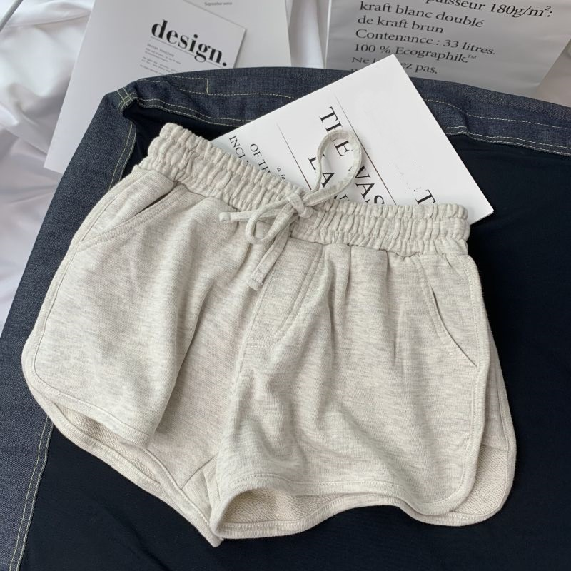 Summer Gray Shorts Women Fashion Ladies Elastic Waists Short Pants Girl Casual Cotton Shorts Black Home Shorts For Female S-XL 8