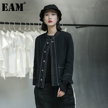 Fit-Line Jacket Women Coat Spring Long-Sleeve Autumn EAM Tide Stand New-Stand-Collar