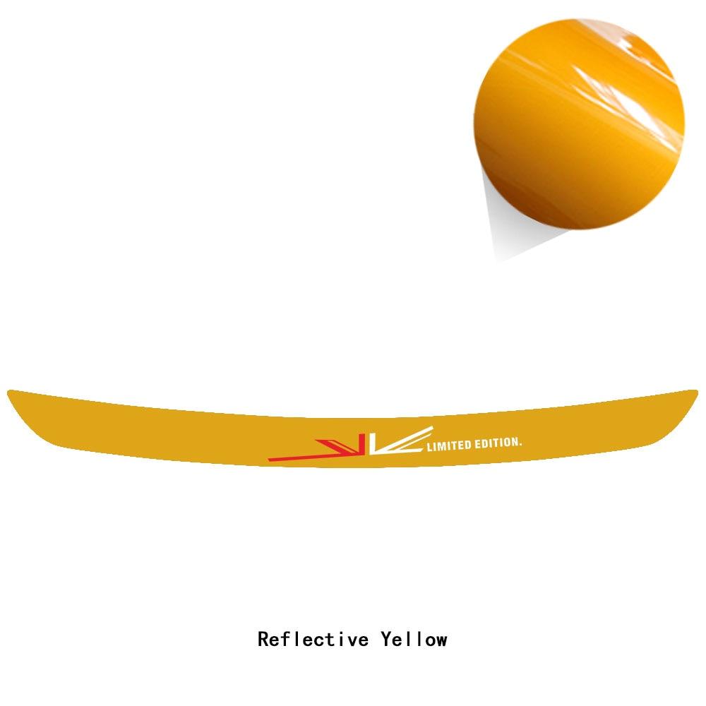 Юнион Джек заднего бампера багажника защита края нагрузки оградительная Защита Наклейка для MINI Cooper S R56 R57 One JCW аксессуары - Название цвета: reflective yellow