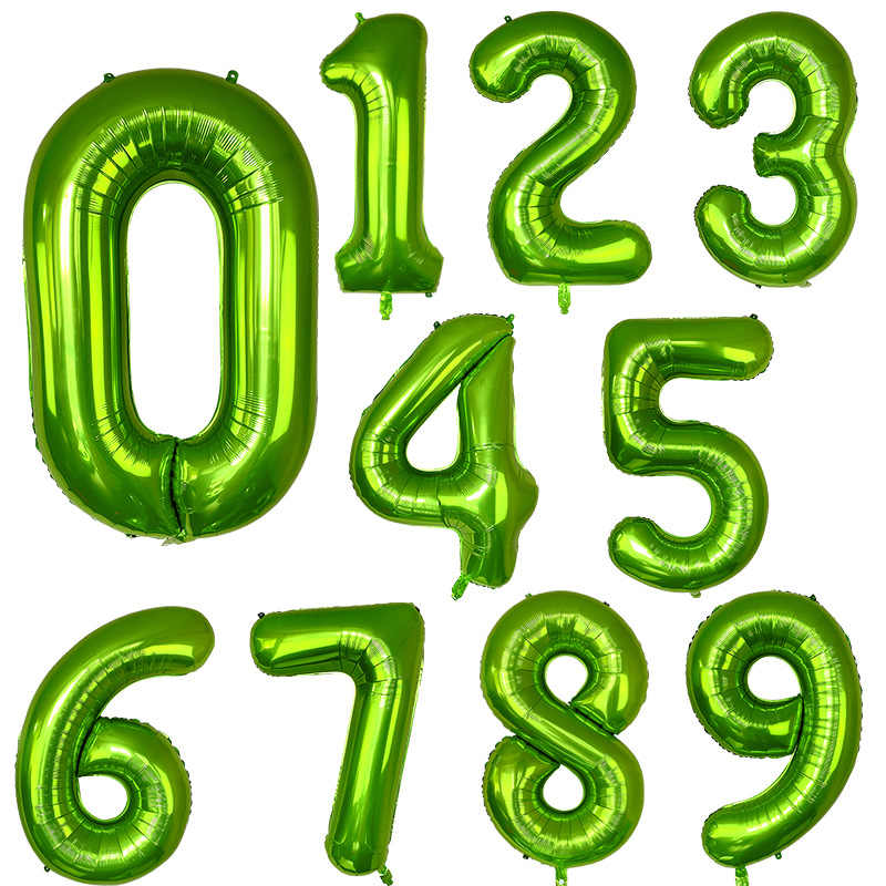 40 inch Green Number Balloons Helium Foil Balloon for Birthday Party Decorations Supplies Number 8 Balloon