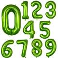 Зеленые фольгированные шары с цифрами, 40 дюймов, 0, 1, 2, 3, 4, 5, 6, 7, 8, 9, гелиевый зеленый шар, принадлежности для украшения дня рождения, свадьбы