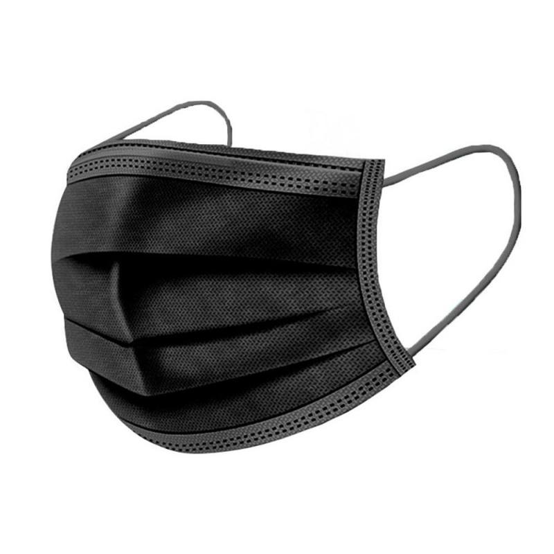 50Pcs Fashion Black Mask Disposable Face Mask Mascarillas Waterproof Protective Mask Mascarilla Masque Anti Dust Mascherine