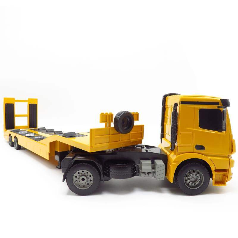 Rc Truck Flatbed Semi Trailer 1 20 2 4g Engineering Tractor Remote Control Construction Diecast Model Kids Electronics Toys Rc Cars Aliexpress