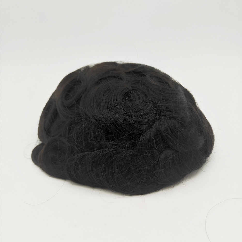 Małe wady włosy tupecik dla mężczyzn z niską ceną i taką samą jakością jak nowe