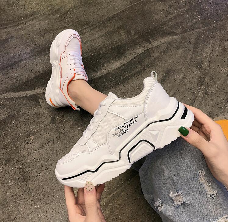 YeddaMavis Shoes Green Daddy Shoes Women Shoes Women Sneakers New Korean Wild Lace Up Casual Shoes Womens Shoes Woman Trainers in Women 39 s Vulcanize Shoes from Shoes