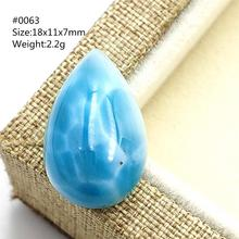 Genuíno natural azul larimar pingente de água padrão cabochon pedra preciosa de dominica moda gota de água oval feminino presente aaaaa