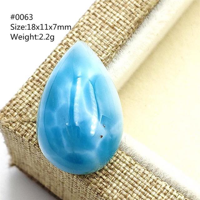 สีน้ำเงินธรรมชาติจี้ Larimar น้ำรูปแบบ Cabochon อัญมณีจากโดมินิกา Water DROP รูปไข่ผู้หญิงของขวัญ AAAAA