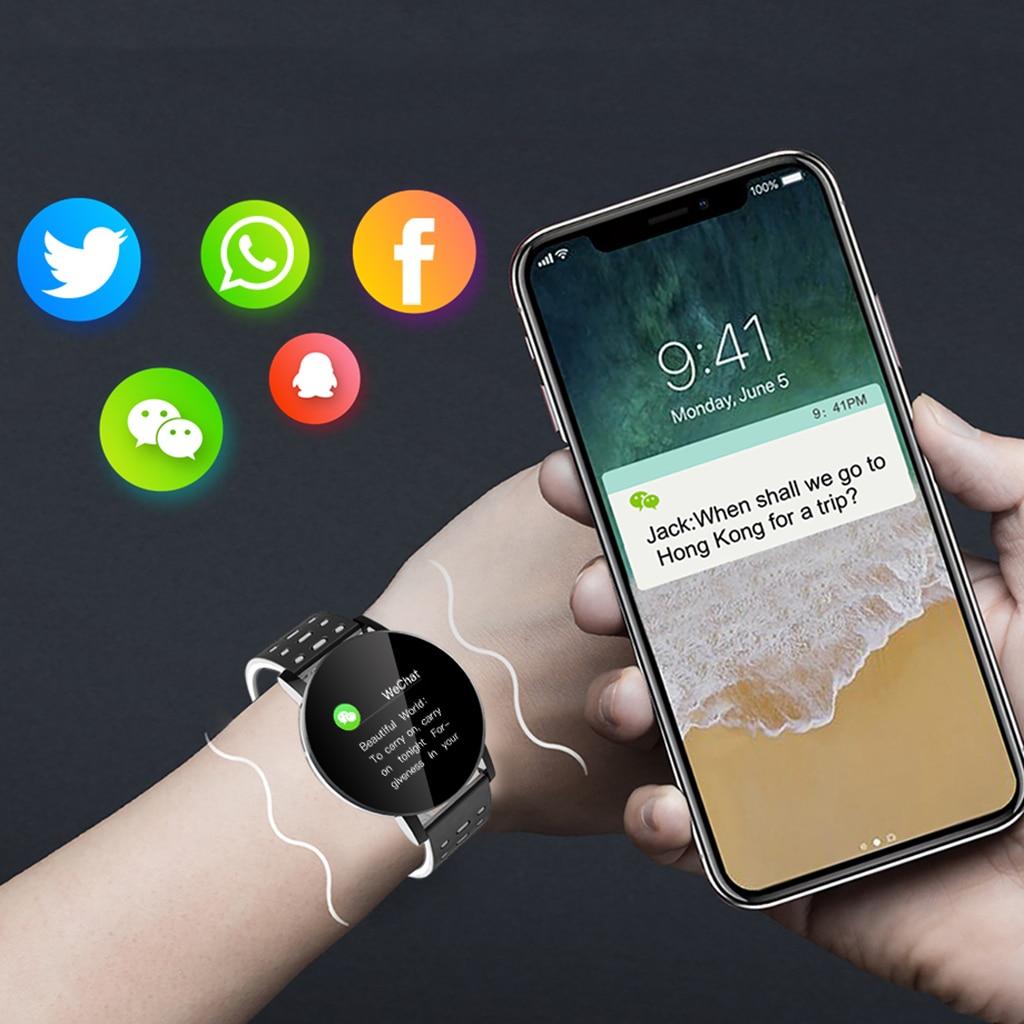 Bracelet intelligent Bracelet femmes hommes Sport Fitness Tracker montre Bluetooth 4.0 Bracelet pour iPhone Android Windows système Microsoft 6