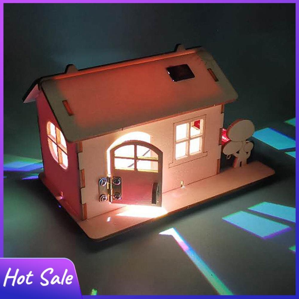 Сборная деревянная кабина «сделай сам», Сборная модель с светильник кой для детей, научное обучение, эксперименты, игрушка для детей, подарк...