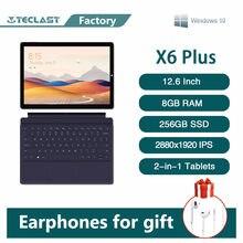 Teclast x6 plus notebook 2 em 1 tablet 12.6 Polegada tela de toque windows 10 ram 8gb 256gb ssd intel n4100 2880 × 1920 ips usb3.0 pc