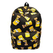 Pretty Cartoon Backpack Canvas Printing School Bags Teenager Unisex Funny Cartoon Casual Shoulder Bag Large Capacity Travel Bags цена в Москве и Питере
