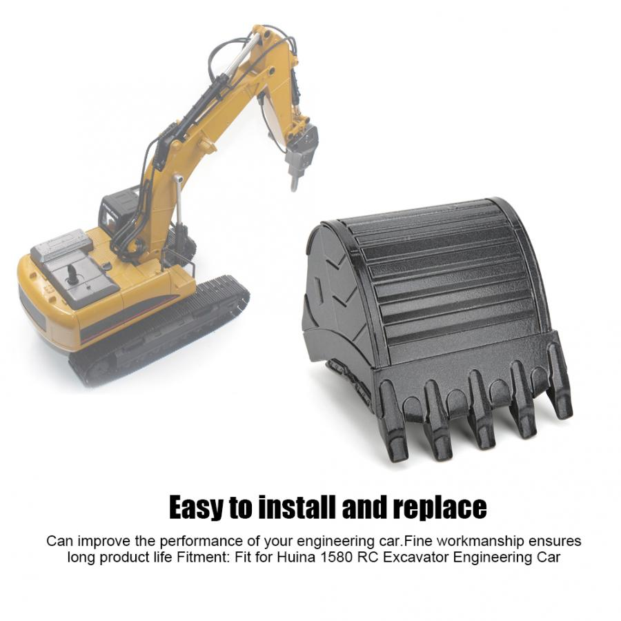 Dilwe RC Excavator Bucket Remote Control Excavator Bucket Compatible with HUI NA 1510 Above 6 Years Old