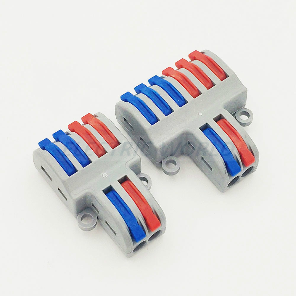 Cable Connector SPL-42 SPL-62 Mini Fast Wire Connectors,Universal Compact Wiring Connector,push-in Terminal Block Connector
