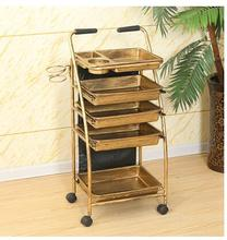 Hairdressing cart hair salon stroller hairdressing tool car beauty cart hairdressing cart hairdressing bar high end beauty beauty wooden cart beauty cart solid wood tool
