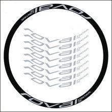 8 fotos/conjunto de bicicleta montanha roval controle sl largura aro roda conjunto mtb bdc biicletta aro decoração decalques vinil