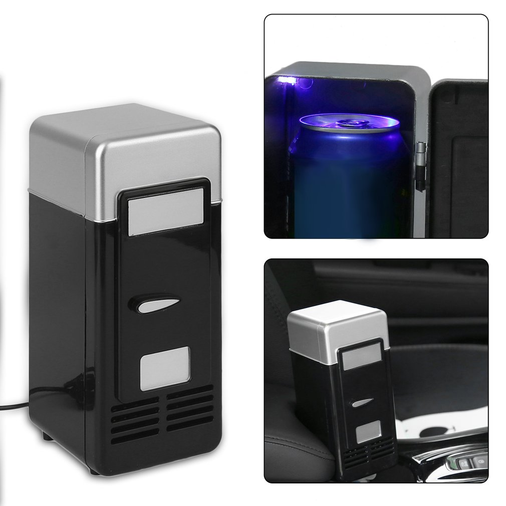 Car Cosmetic Fridge Drink-Cooler Travel Portable Boat USB Black 5V ABS High-Quality 10W title=