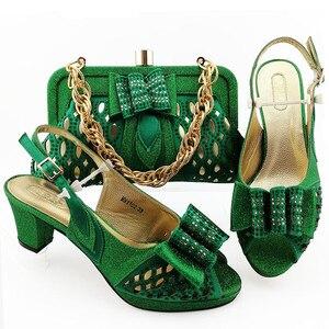 Image 4 - הגעה חדשה נעליים איטלקיות עם שקיות התאמה באיכות גבוהה מעצב נעלי נשים יוקרה 2020 ניגרי נעליים סטי שקית