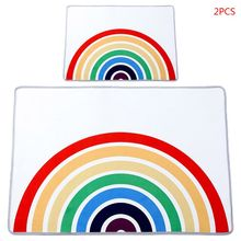 Game-Rug Rainbow-Carpet Play-Mat Baby Kids Children 2pcs Crawling-Pad Nursery-Decor Hoom