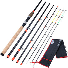 Sougayilang New Top Quality Feeder Fishing Rod 6 Sections Fishing Rod L M H Power Carbon Fiber Travel Rod Fishing Tackle