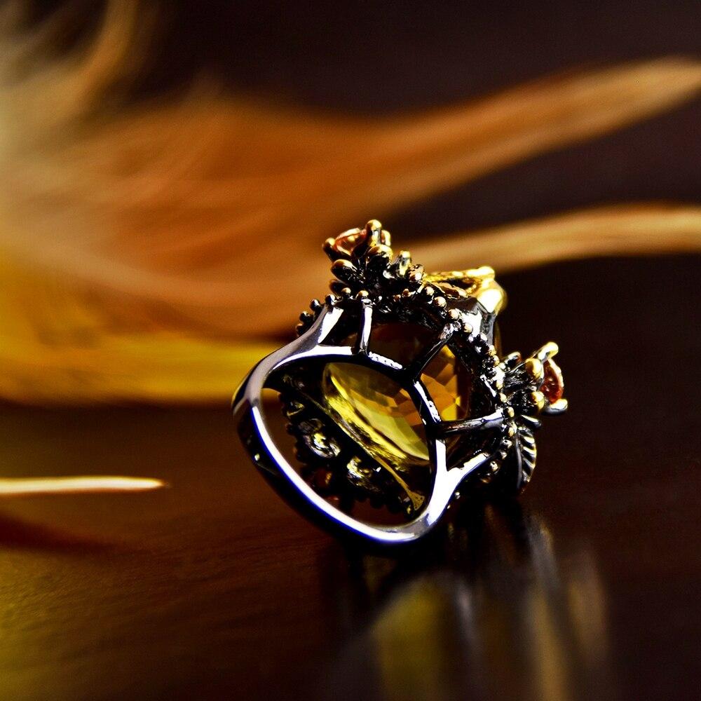 WA11668 golden color big zircon wedding ring women (6)