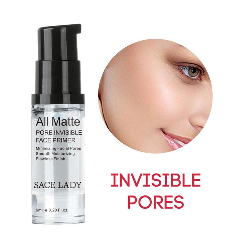 SACE LADY Face Base Primer Cream Liquid Matte Fine Lines Oil-control Facial Cream Brighten Foundation Primer Makeup Cosmetic