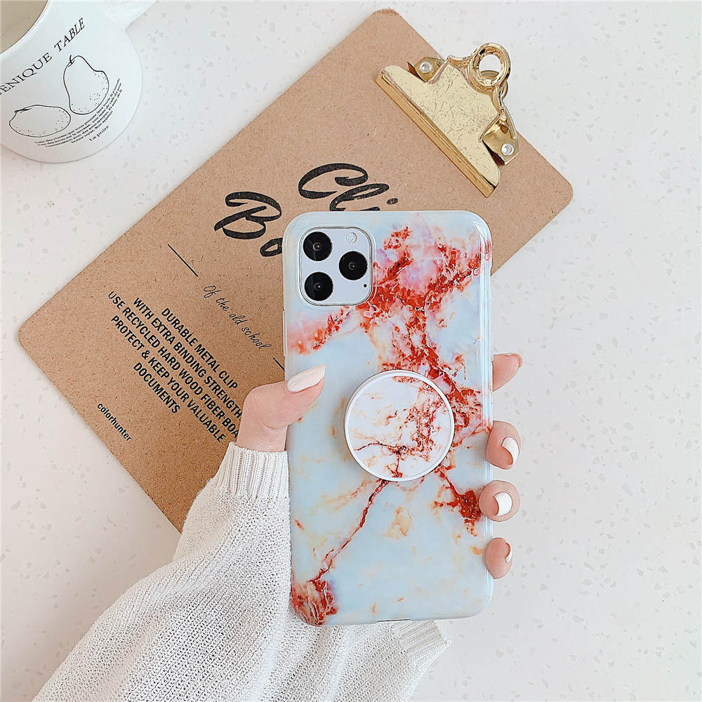 Luxury Marble Stand Phone Back Cover Shell For iPhone 11 Pro X XR XS Max 7 8 6 6S 25