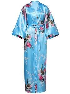 Bathrobe-Gown Kimono Flower Wedding-Robes Sexy Sleepwear Peacock Bridesmaid Chinese Plus-Size