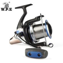 цена на W.P.E HKD 7 + 1ball bearing fishing reel 8000 rotating spool 14.5KG maximum traction force 4.1: 1 gear ratio carp fishing gear P