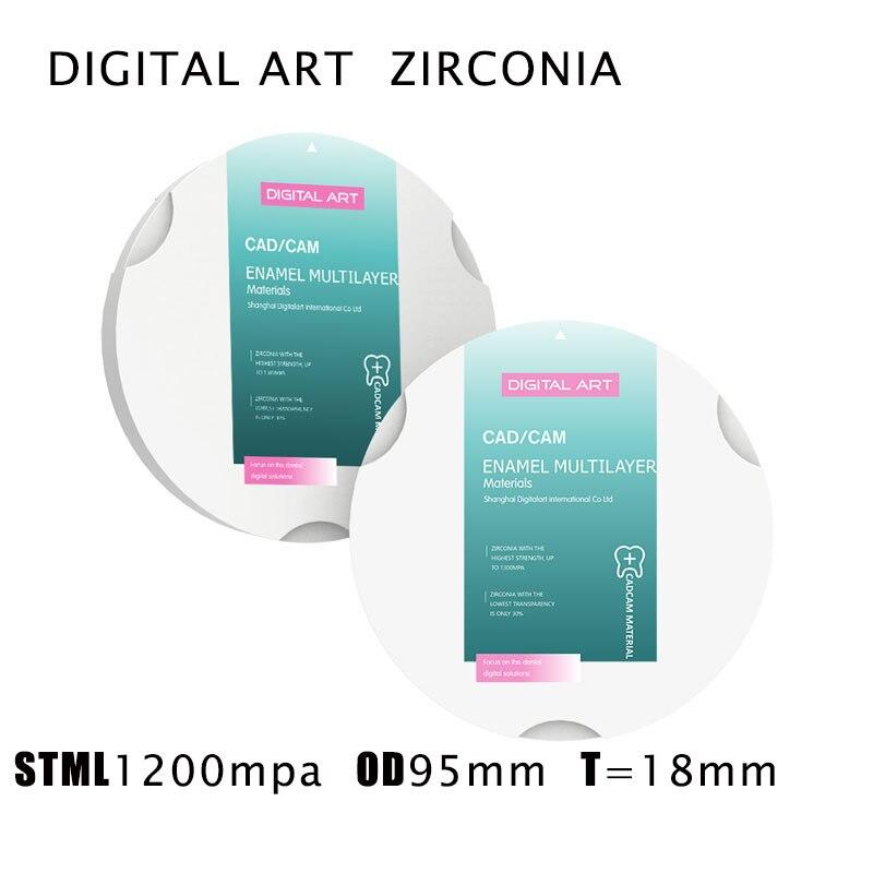 digitalart multicamadas zirconzahn zirconia discos para zirconzahn cad dental cam stml95mm18mma1 d4