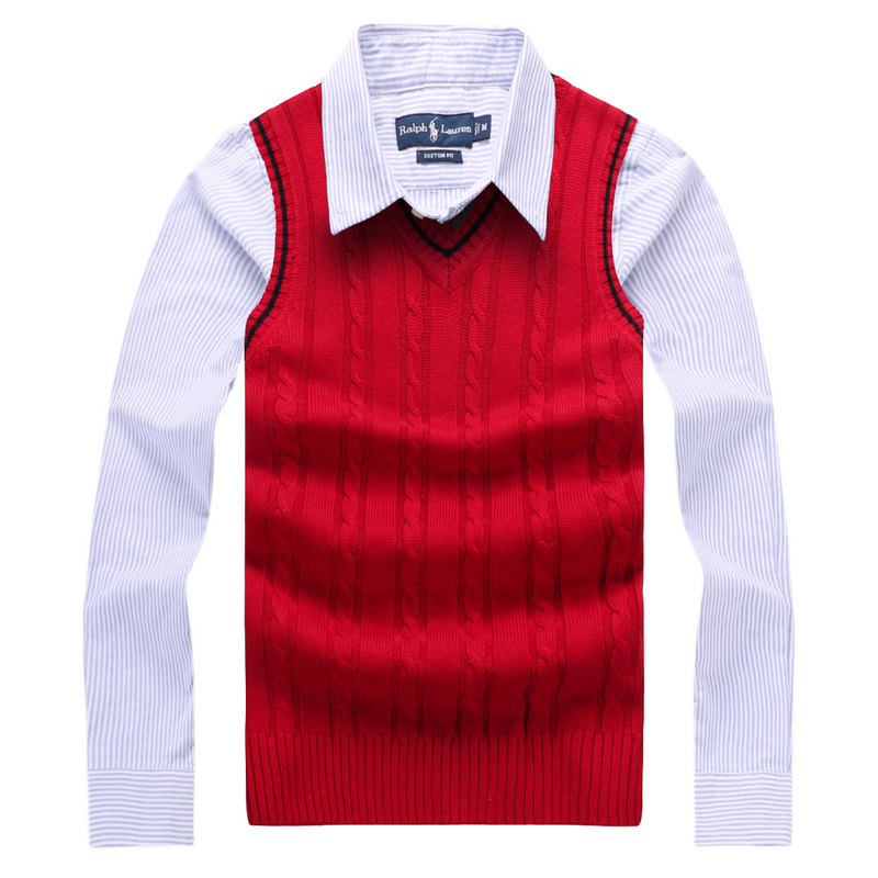 2019 Autumn Men Knitted Sleeveless Sweaters V-Neck Jumper Men's 100% Cotton Pullover Brand Clothing Solid Male Vest Sweater(China)