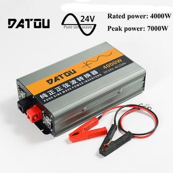 цена на 7000W Inverter Pure Sine Wave 24v to 220v Car Charger Converter Adapter Voltage Transformer Inverter Converter Rated 4000W