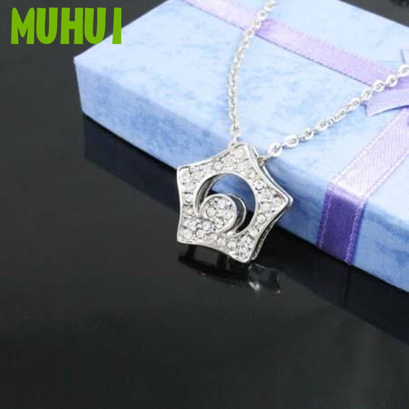 Free Shipping Kpop Boys over flowers Necklace Crystal Star Pendant Choker Necklaces For Women Jewelry Collares B081