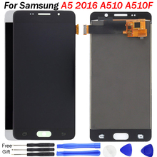 Adjust brightness for Samsung A5 2016 LCD Display A510 A510F A510M SM-A510F Display Touch Screen Digitizer For Samsung A510 lcd a510f display for samsung galaxy a5 2016 a5100 a510 a510f a510m sm a510f display touch screen digitizer assembly a510 lcd repair