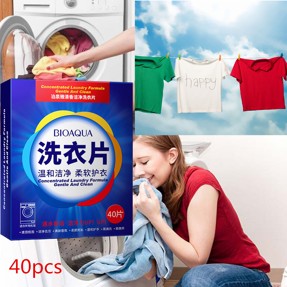40 New Formula Laundry Detergent Sheet Nano Concentrated Washing Powder For Washing Machine Laundry Cleaner Cleaning Products^5