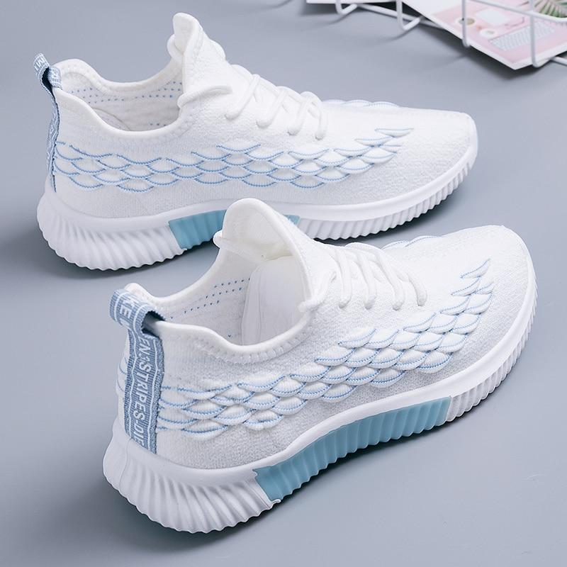 2020 Women Sneakers Woman Flyknit Running Shoes Female Vulcanized Women's Casual Flats Women Walking Shoes Ladies Plus Size