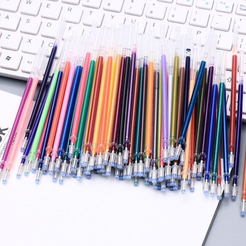 100 цветов шариковая гелевая ручка, стержень для пополнения, многоцветная блестящая вспышка, цветные краски, гелевые чернила, заправки для ру...