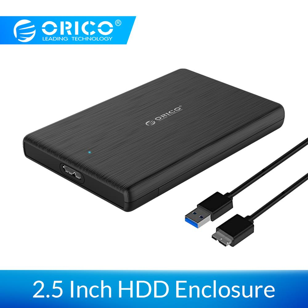 ORICO 2.5 Inch SATA To USB 3.0 HDD Case USB3.0 MicroB External Hard Drive Disk Enclosure High-Speed UASP SSD Case For WD Seagate
