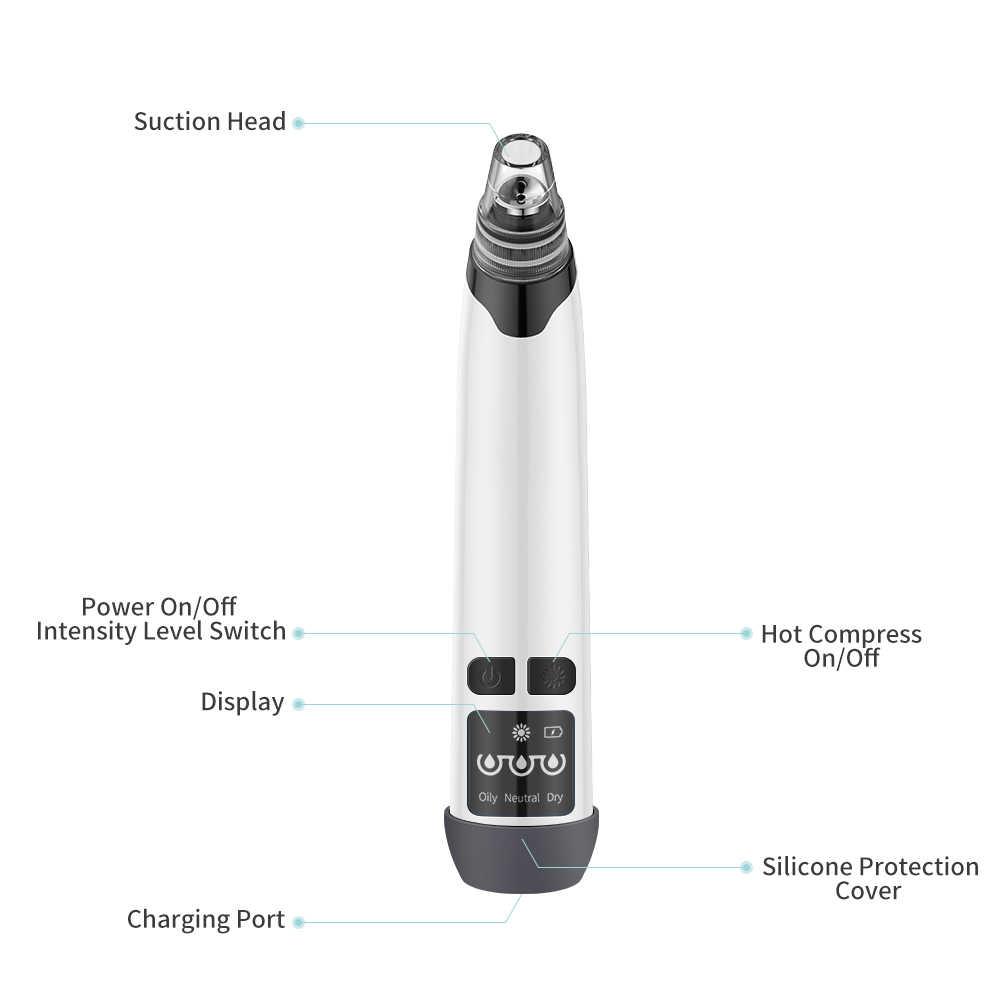 Electric Komedo Remover Usb Isi Ulang Pori Vacuum Cleaner Jerawat Jerawat 3 Tingkat Isap Yang Dapat Disesuaikan Extractor Removal Tool