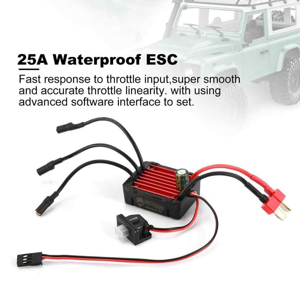 Para SURPASSHOBBY KK 2430 5800KV Motor sin escobillas con 25A control de velocidad impermeable ESC para 2S 1:16 1:18 RC Racing Car Mod