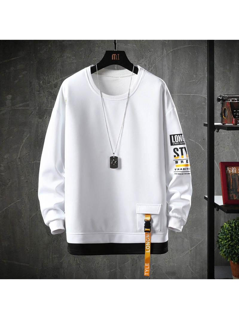 Harajuku Hoodies Sweatshirt Men Men Streetwear Autumn Solid-Color Cotton Casual Spring
