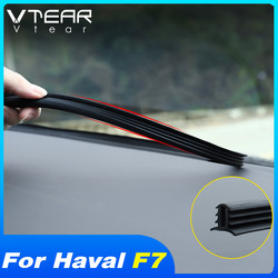 Vtear for Haval F7 F7X car rubber seal sound insulation styling edge strip insulation center console dashboard accessories auto