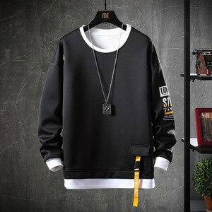 2020 Solid Color Sweatshirt Men Hoodies Spring Autumn Hoody Casual Streetwear Clothes(China)
