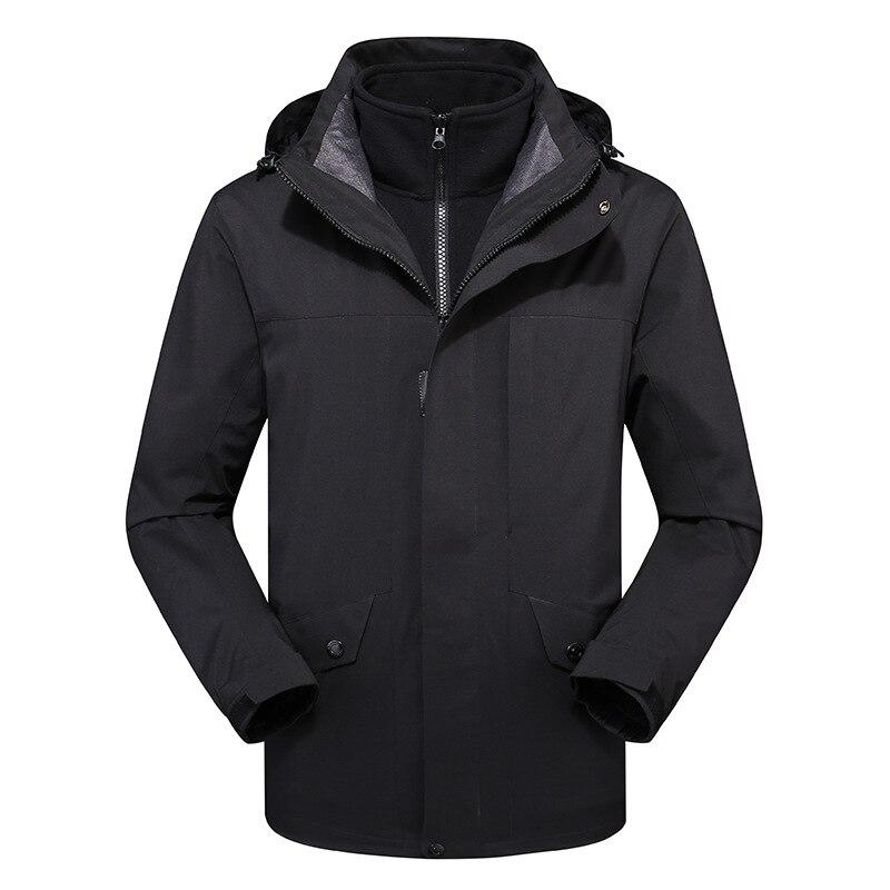 Autumn Winter Men's Outdoor jacket Thicken Thermal Fleece Jacket Riding Hiking Climbing Sports Skiing Warm Windproof Coat