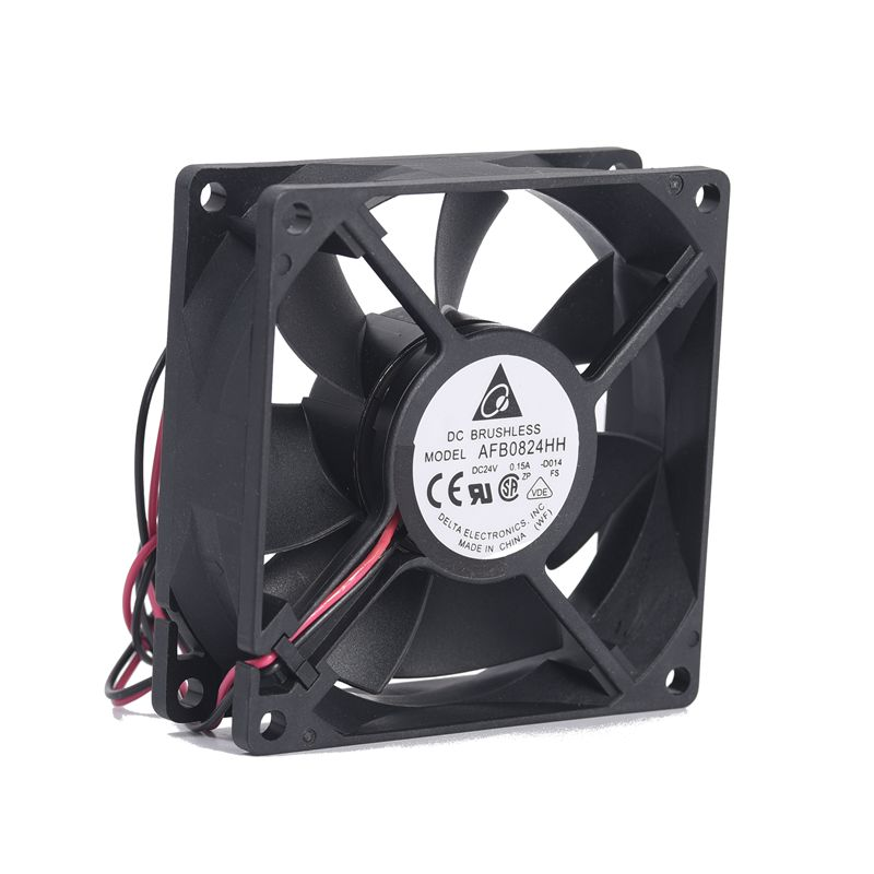 Original Delta AFB0824HH 24V 0.15A 8025 8cm Inverter Industrial Computer Power Supply Fan
