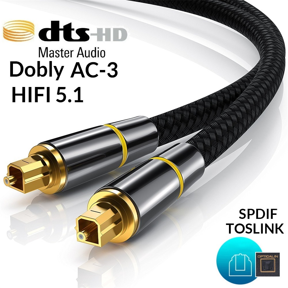 De alta fidelidad 5,1 Digital SPDIF de fibra óptica Toslink Audio Cable 1m 2m 8m 10m de la caja de TV PS4 Cable de altavoz barra amplificador Subwoofer