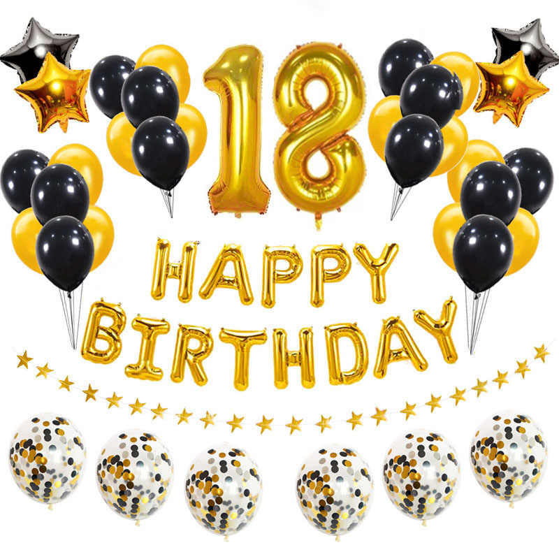 18 urodziny 38 sztuk różowego złota cyfra 18 z balonów foliowych zestaw 18 dekoracje na przyjęcia urodzinowe dla dorosłych różowe niebieskie balony dostaw