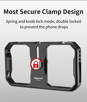 Ulanzi U-Rig II Metal Universal Phone Video Rig Handheld Grip Stabilizer Vlog Cage Case Grip Filmmaking Case for iPhone Android