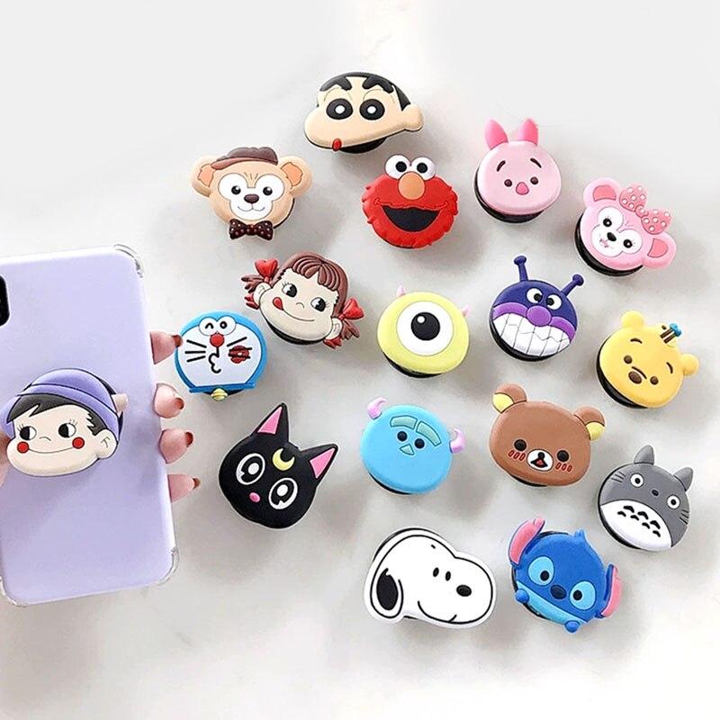 Cartoon Bear Cute Animals Foldable Phone Grip Finger Ring Phone Holder Phone Bracket For IPhone Stand Holder Phone Holders